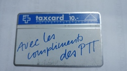 Switzerland-(v-11)-avec Les Compliments-(104f)-(painted And Damaged)20.000-used Card+1card Prepiad Free - Suisse