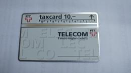 Switzerland-(v-16c1)-IL Vostro Miglior Contatto-(207c)-32.000-used Card+1card Prepiad Free - Suisse