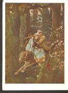 K. USSR Soviet ART Postcard Ivan Tsarevich On The Grey Wolf Russian Folk Fairy Tale Vasnetsov State Tretyakov Gallery - Fairy Tales, Popular Stories & Legends