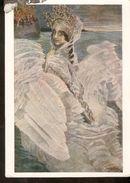 K. USSR Soviet ART Postcard Painting Fairy Tale Tsarevna Lebed Zarentochter Lebedj Schwan VRUBEL State Tretyakov Gallery - Fairy Tales, Popular Stories & Legends
