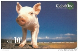 Prepaid: GlobalOne 134 - Funny Animals 3 - Suisse