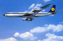 AVIONS / AEROPORT   /  L 25   / B 707        LUFTHANSA        CPM / CPSM   10 X 15 - 1946-....: Moderne