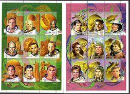 CENTRAFRIQUE 1601/18 Espace , USA , URSS , Russie , 2 Feuillets - Unclassified