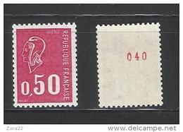 1664b **  N° Rouge Au Verso . Neutre Aux U.V.  Luxe.  PRIX!!!!!!!!!!!! - Roulettes
