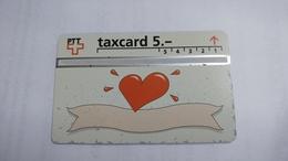 Switzerland-(v-72a)-taxcartoon-herz-(503l)-1.500-used Card+1card Prepiad Free - Suisse
