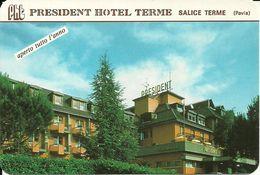 """Calendarietto Pubblicitario""""President Hotel Terme"""" Salice Terme (Pavia) Anno 1999 - Calendari"""