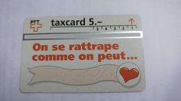 Switzerland-(v-72h)-taxcartoon On Se Rattrape Commeon Peut-(503l)-1.500-used Card+1card Prepiad Free - Suisse