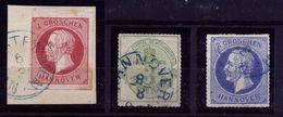 A4891) AD Hannover 3 Marken Mi.14, 21 Und 24 Gestempelt Used - Hannover