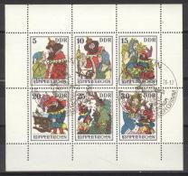 DDR 2187/92 Kleinbogen Nicht Durchgezähnt O Sonderstempel - [6] Oost-Duitsland