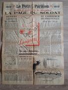 Journal, Le Petit Parisien - La Page Du Soldat Avec Une Carte Géographique Du Front De L'Est Au Dos - Illustré - Revues & Journaux