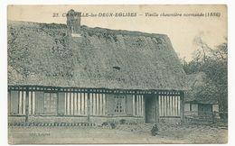 Cpa 76 Canville Les Deux Eglises, Rare, édit Legros, écrite Au Dos - Altri Comuni