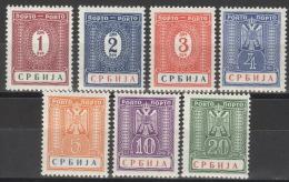 Serbien Porto 9/15 ** Postfrisch - Occupation 1938-45