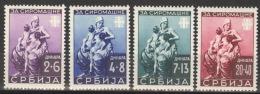 Serbien 82/85 ** Postfrisch Gepr. Krischke BPP - Occupation 1938-45