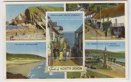 North Devon. Carte à Système. 12 Vues - Clovelly