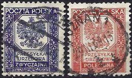 Poland 1935 - Official : National Arms - Eagle ( Mi D19/20 - YT S 19/20 ) - Dienstzegels