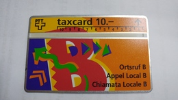 Switzerland-(s019.A-p19)-local Call B-(206b)-100.000-used Card+1card Prepiad Free - Suisse