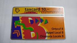 Switzerland-(s019.B-p19)-local Call B-(206c)-100.000-used Card+1card Prepiad Free - Suisse