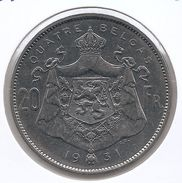 ALBERT I * 20 Frank / 4 Belga 1931 Frans  Pos.A * Prachtig * Nr 9685 - 11. 20 Francs & 4 Belgas