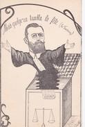 """Carte Vers 1910 Signée C De B /  AVOCAT / JUSTICE :""""quelqu'un Troubla La Fête (la Fontaine)"""" - Métiers"""