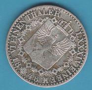 PREUSSEN 1/6 Taler 1848 A  Friedrich Wilhelm IV VI EINEN THALER  Argent 521‰ - Taler Et Doppeltaler