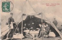 BIVILLE  -  CAMP  DES  SOLDATS  -  REPAS  SOUS  LA  TENTE - France