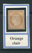 FRANCE- Y&T N°38- Orange Clair, Oblitération Légère - 1870 Assedio Di Parigi