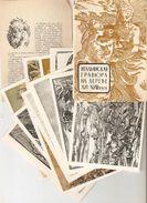 K. Fine Arts Italian Woodcut Of The 16th - 18th Centuries LOT Set Of 12 Psc Soviet ART Postcards With Description - Postcards