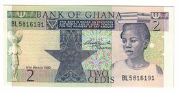 Ghana 2 Cedis 1982 UNC  .C. - Ghana