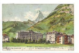 17529 - Zermatt Hôtel Mont Cervin Villa Marguerite Et Matterhorn - VS Valais