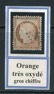 FRANCE- Y&T N°38- Orange Très Oxydé, Gros Chiffre (très Belle Teinte!!!) - 1870 Assedio Di Parigi