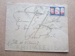 """VEND TIMBRE DE FRANCE N° 263 + VIGNETTE """" TUBERCULOSE 1929 """" AU VERSO , CACHETS """" EPINAY S/SEINE """" , SUR LETTRE !!! - France"""