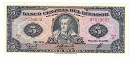 Ecuador 5 Sucres 1988 UNC  .C. - Ecuador