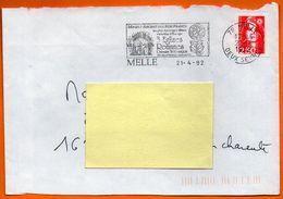 79 MELLE    MINES D'ARGENT DES ROIS DE FRANCE  1992 Lettre Entière N° FF 515 - Mechanical Postmarks (Advertisement)