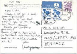 Multiple Stamp Postcard - 14 December 1992 Tarnow 2 To Denmark - 1944-.... Republic
