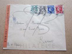 VEND TIMBRES DE FRANCE N° 670 + 671 + 674 + 676 , SUR LETTRE !!! - 1945-47 Cérès De Mazelin