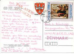 Multiple Stamp Postcard - 12 March 1993 Tarnow 1 To Denmark - 1944-.... Republic