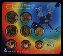 44522) Spanien Euro - KMS 2002, Von 1 Cent Bis 2 Euro, Im Blister, St. - Spanien