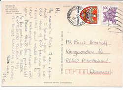 Multiple Stamp Postcard - 21 March 1993 Szczecin To Denmark - 1944-.... Republic