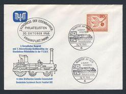 Deutschland Germany 1965 Cover / Brief - 2. Kongress Eisenbahner Philatelisten / Congress Of Railway Philatelists - Treinen