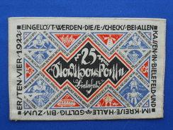 Notgeld, Linnen Money, Tram - [ 3] 1918-1933: Weimarrepubliek