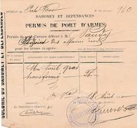 1900 - PORTO-NOVO (Dahomey-Bénin) PERMIS DE PORT D'ARMES - Historische Documenten