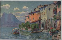 Gandria - Künstlerkarte Paolo Kutscha - TI Tessin
