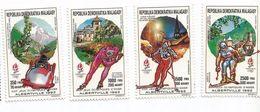 1990 Madagascar Malagasy Albertville Winter Olympics Skiing Skating Complete Set Of  MNH - Madagascar (1960-...)
