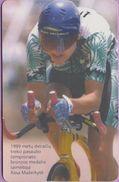 Télécarte Lituanie °° Nc - Bronzos Medalio Cyclisme - 1999 - Rasa Mazeikyté -819 - Lituanie