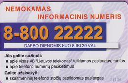 Télécarte Lituanie °° 55 - Nemokamas Informacinic Numeris – 1156 - Lituanie