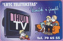 Télécarte Lituanie °° 72-LRTC Teletekstas - Tavo TV - 3021 - Lituanie