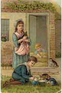 CPA N°8430 - CHATS ET ENFANTS - Katten