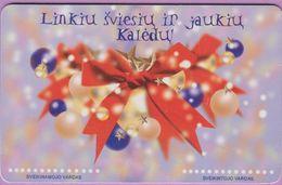 Télécarte Lituanie °° Nc - Linkiu Sviesiu Ir Jaukiu Kaledu - 2000- 9467 - Lituanie