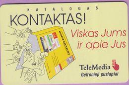 Télécarte Lituanie °° Nc - Katalogas Kontaktas - Tele Media – 6249 - Lituanie