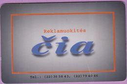 Télécarte Lituanie °° Nc - Reklamuokités - CIA – 6182 - Lituanie